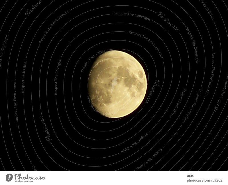 the moon Himmel schwarz dunkel Mond Planet