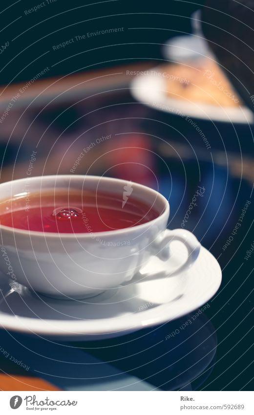 Teekultur. Getränk trinken Heißgetränk Geschirr Tasse Gesunde Ernährung Wellness harmonisch Wohlgefühl Erholung ruhig Häusliches Leben Tisch heiß lecker