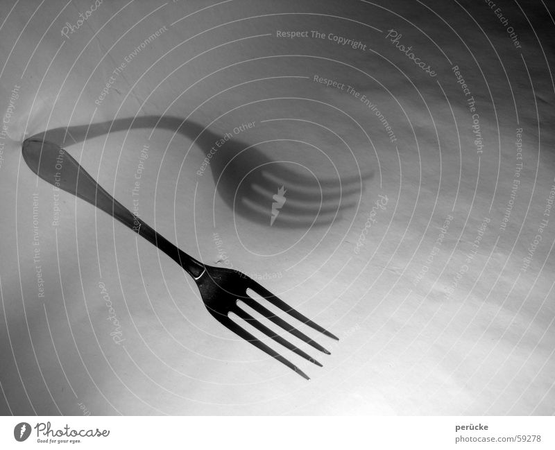 Gabel abstrakt Ernährung trist Schweben Doppelbelichtung Besteck Gabel bezaubernd Duplex dual