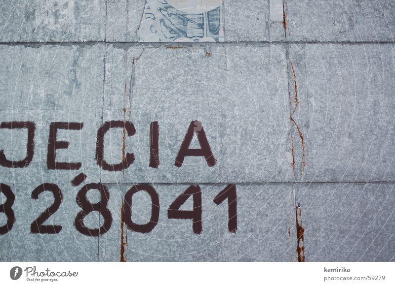 jecia828041 Werbung Plakat Litfaßsäule Ziffern & Zahlen Tapete Blech Stahl kleister Metall Rost