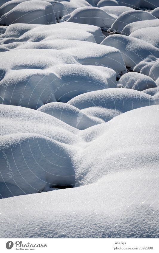 Hart aber weich Natur Landschaft Winter kalt Schnee Stein hell Stimmung Schönes Wetter Ausflug Urelemente einfach Wandel & Veränderung Bach