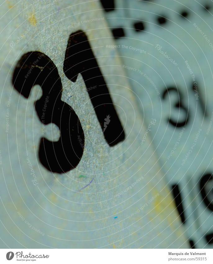 31+31 alt blau Schilder & Markierungen Papier Ziffern & Zahlen Schriftstück Druck Faser