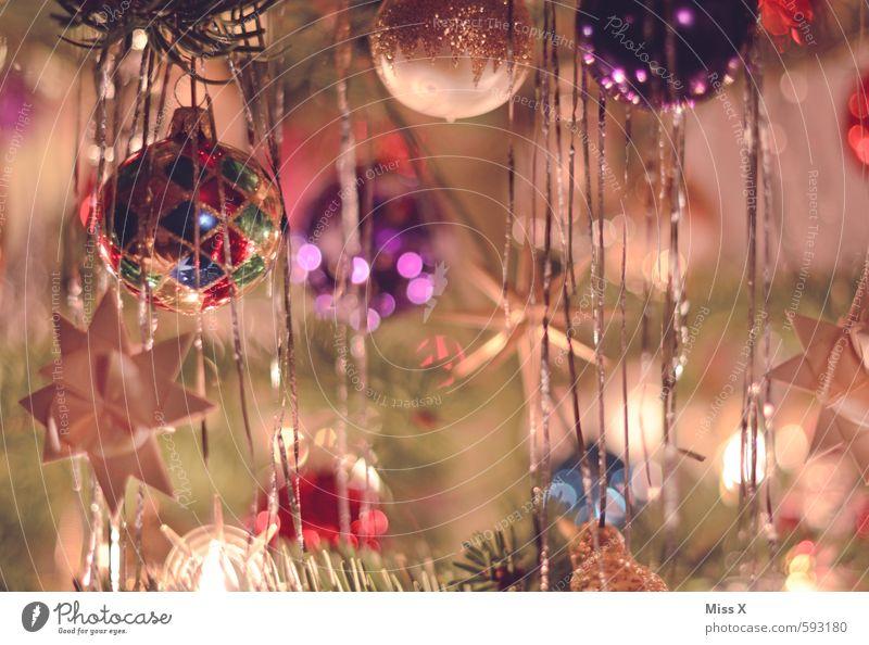 Papas Weihnachtsbaum Weihnachten & Advent Baum glänzend Baumschmuck Christbaumkugel Stern (Symbol) Tannenzweig Weihnachtsdekoration Weihnachtsbeleuchtung