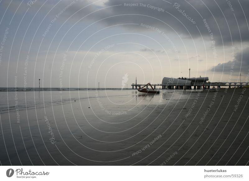 unendliches meer Meer Strand Ferien & Urlaub & Reisen Erholung Gebäude Wasserfahrzeug Insel Italien Unendlichkeit Blauer Himmel Ebbe Lignano Urlaubsort