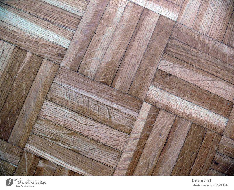 Holzparkett Parkett Muster Bodenbelag verrückt Linie
