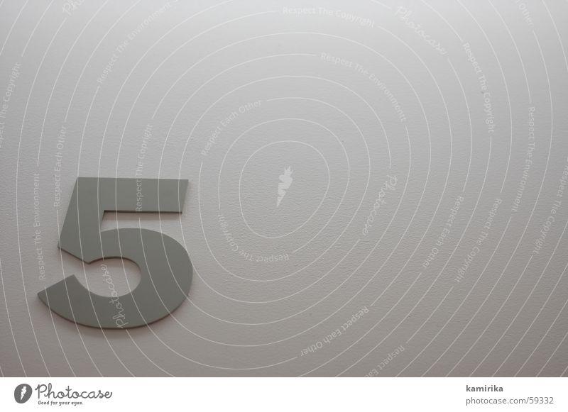 its fivetime Wand grau Metall Hintergrundbild Ziffern & Zahlen 5 Stahl Grafik u. Illustration Blech