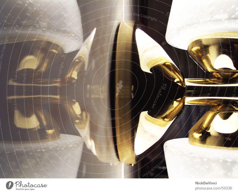 mirrored.illumination Lampe Wand hell glänzend Glas gold rein Fliesen u. Kacheln Reichtum edel Erkenntnis Marmor kegelförmig