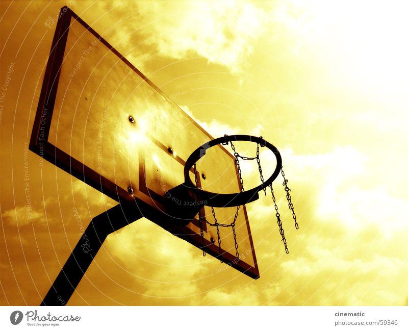 B-Ball National Basketball Association Dribbling Freiwurf Spielen Freizeit & Hobby Korb Wolken Freude Sport Himmel Sportveranstaltung Konkurrenz Kette