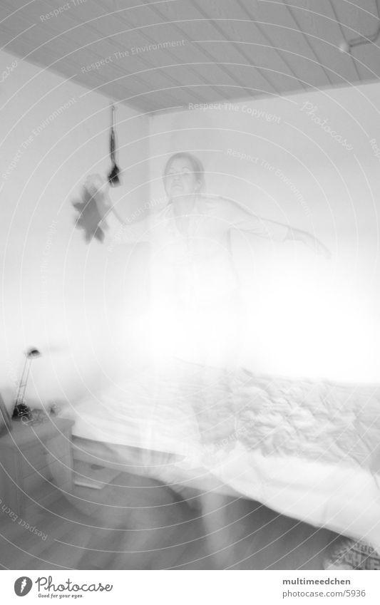 jump_2 springen Bett Fototechnik aline Geister u. Gespenster