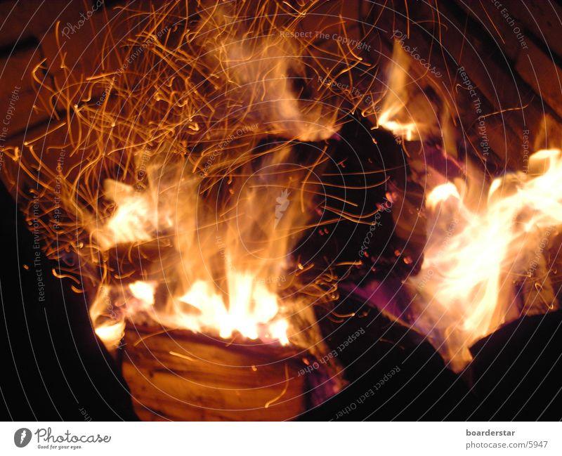 Feuer Physik Sommer Langzeitbelichtung Brand Wärme