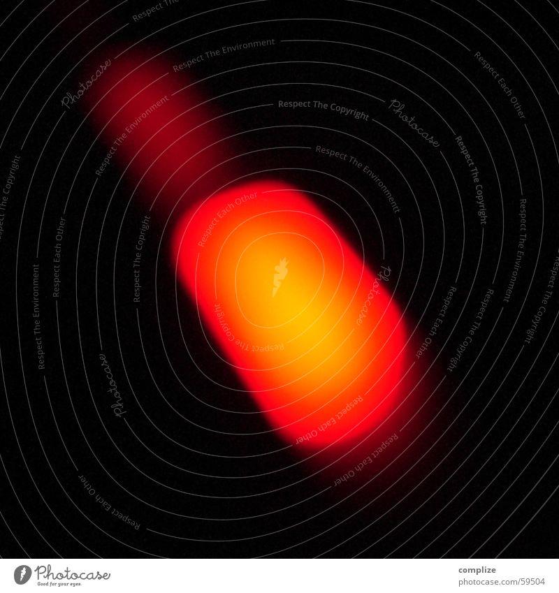 burn rot Lampe dunkel glänzend Brand Punkt Medien brennen Reaktionen u. Effekte Diode