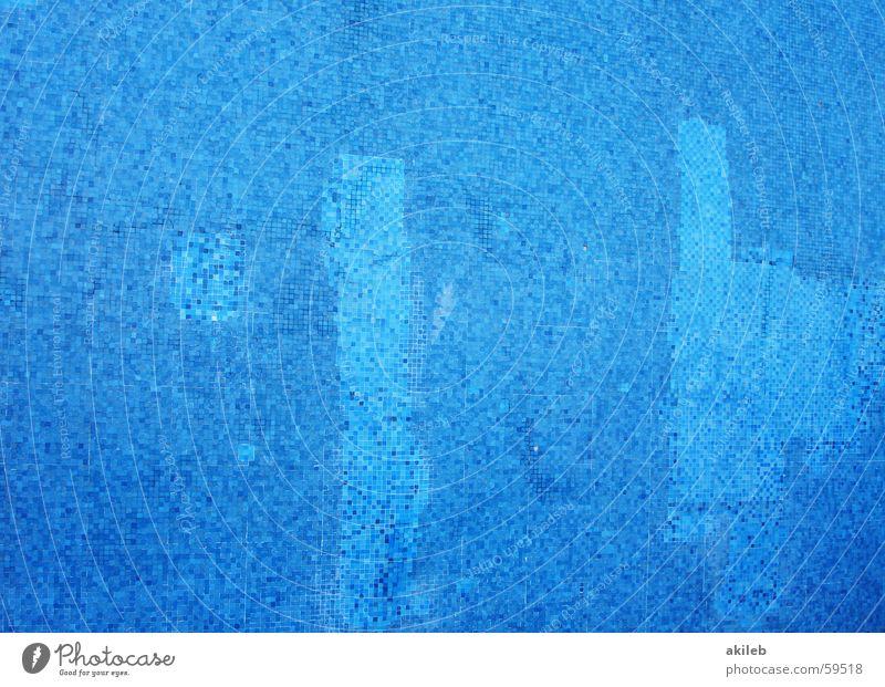 Mosaik (4) hell-blau Außenaufnahme Wand glänzend Quadrat Reflexion & Spiegelung Handwerk Muster Fliesen u. Kacheln Coolness Nahaufnahme Strukturen & Formen
