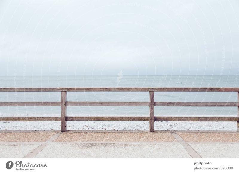 Endlose Weiten Ferien & Urlaub & Reisen Tourismus Sommerurlaub Strand Umwelt Natur Luft Wolken Klima Wetter Küste Nordsee Meer Dorf Fischerdorf Bodenbelag