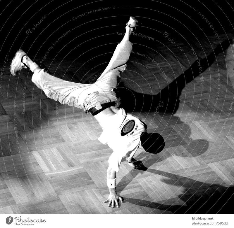 Break ... Tanzen Aktion Artist Breakdancer Handstand Kreisel