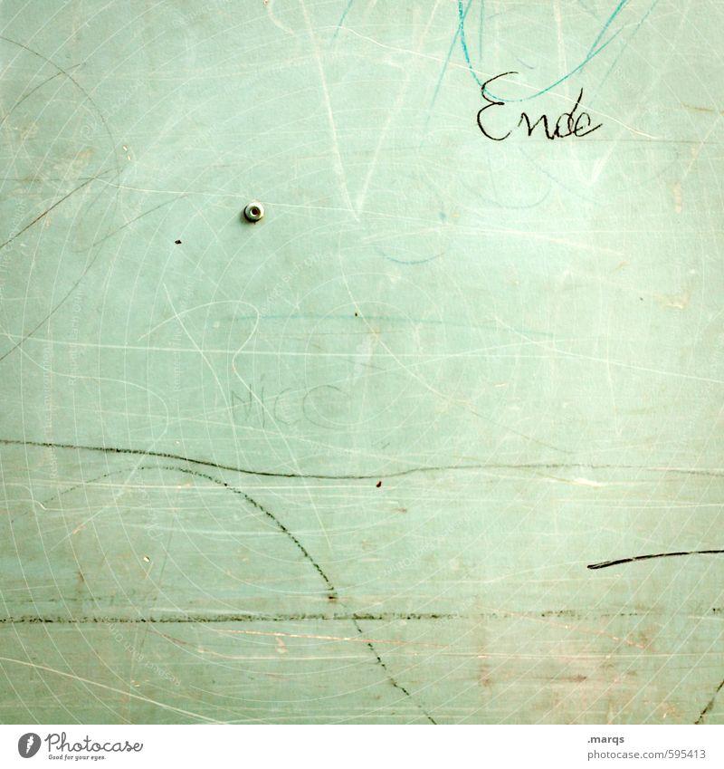 Verfallsdatum überschritten | Mit Ansage Mauer Wand Schriftzeichen alt grün Ende Wandel & Veränderung Hintergrundbild Farbfoto Außenaufnahme Nahaufnahme