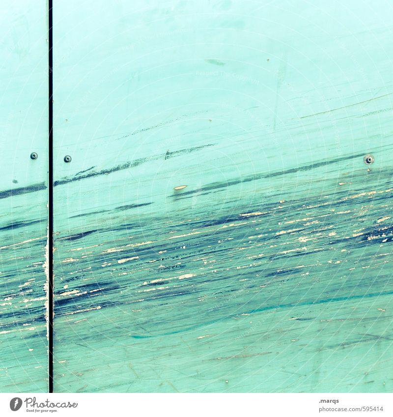 Kratzer Stil Design Mauer Wand Kunststoff Coolness hell trendy einzigartig kaputt schön trashig verrückt blau türkis Farbe Hintergrundbild Farbfoto