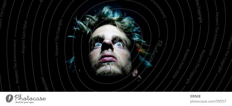 F.R.E.A.K grün Auge Haare & Frisuren Kopf orange Angst Spiegel türkis dumm Selbstportrait Freak Dummkopf Porträt