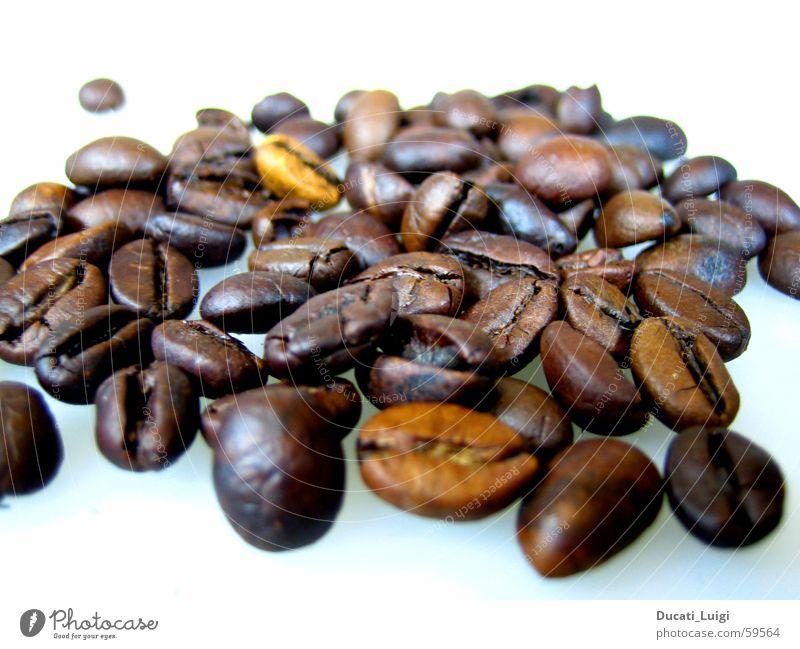 espresso braun Perspektive Kaffee nah Café Geruch Espresso Bohnen aromatisch Cappuccino Kaffeebohnen