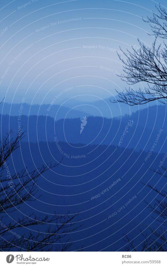 Blau blau Berge u. Gebirge Landschaft Bergkette Schwarzwald Mittelgebirge