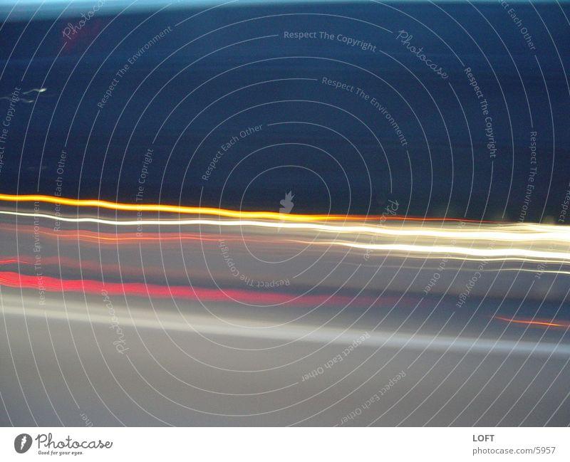 Lichtwellen Nacht Wellen Verkehr