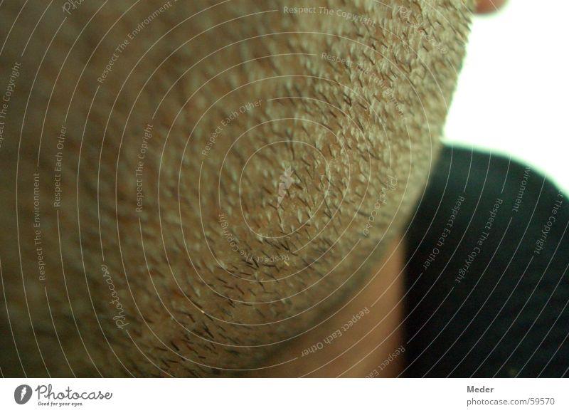 Drei-Tage-Bart Dreitagebart Bartstoppel Haare & Frisuren Haut Wange Hals Mensch Kopf rasiert unrasiert Rasieren kratzen kratzig bequem maskulin Rasierer