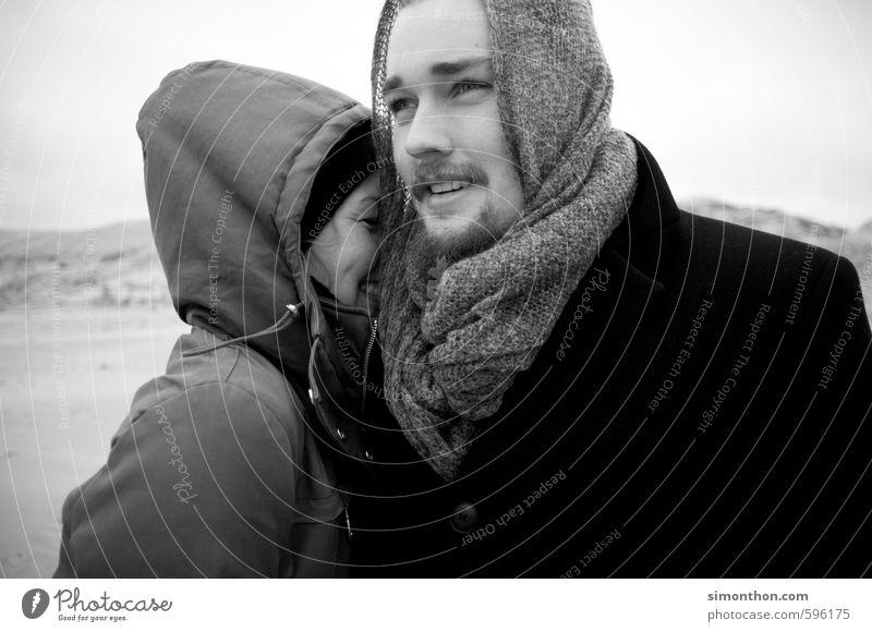 Glück Geschwister Familie & Verwandtschaft Freundschaft Paar Partner Jugendliche Leben 2 Mensch Strand Nordsee Ostsee Meer Insel Zufriedenheit Lebensfreude