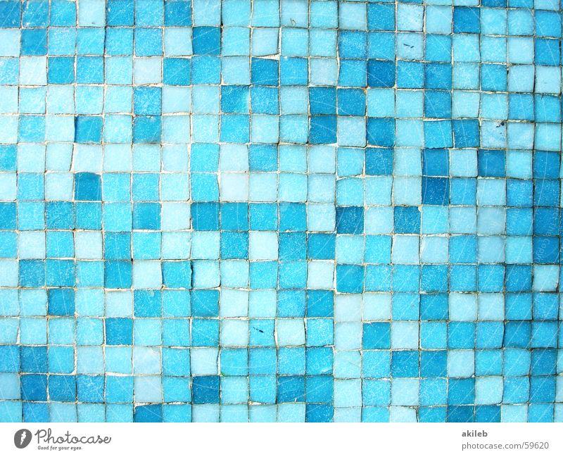 Mosaik (5) blau Wand Coolness Schwimmbad Fliesen u. Kacheln hell-blau
