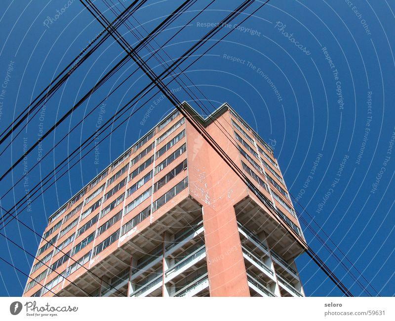 Guatemala-Stadt Gebäude Kraft Arme Wohnung Hochhaus Rücken Elektrizität Kabel Telekommunikation Verbindung Leitung elektronisch Südamerika durchkreuzen