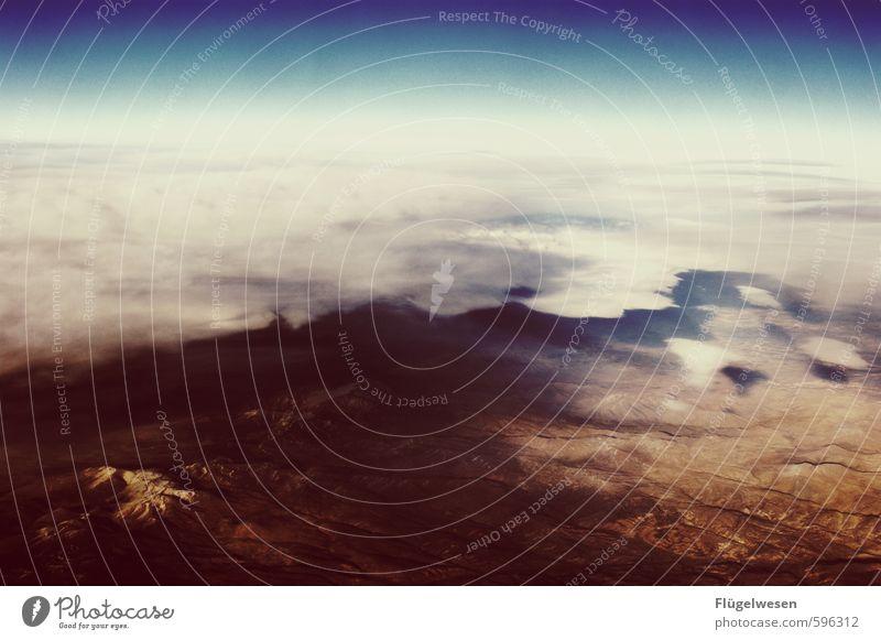 Über den Wolken II Ferien & Urlaub & Reisen Tourismus Ausflug Abenteuer Ferne Freiheit Himmel Hügel Felsen Berge u. Gebirge Gipfel Schneebedeckte Gipfel