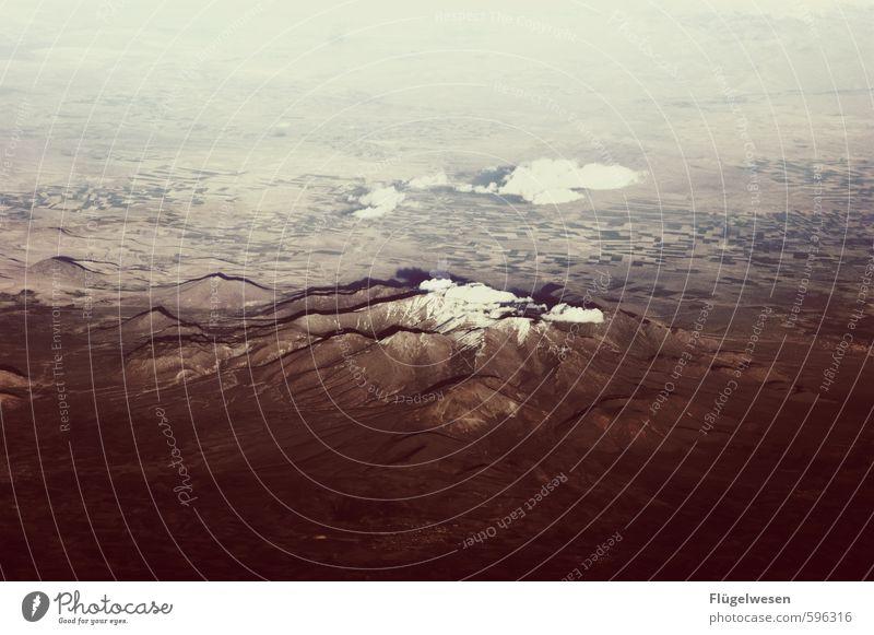 Über den Wolken III Ferien & Urlaub & Reisen Ausflug Abenteuer Ferne Freiheit Umwelt Natur Landschaft Pflanze Erde Himmel Klima Klimawandel Hügel Felsen
