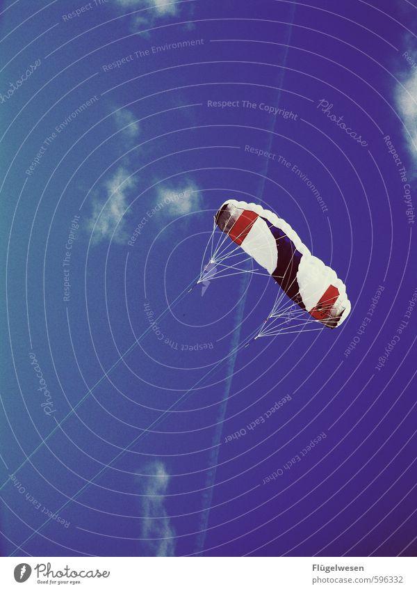 Abheben Ferien & Urlaub & Reisen Himmel (Jenseits) Wolken Ferne Küste Freiheit fliegen Tourismus Luft Luftverkehr Fliege Wind Ausflug Abenteuer Seil