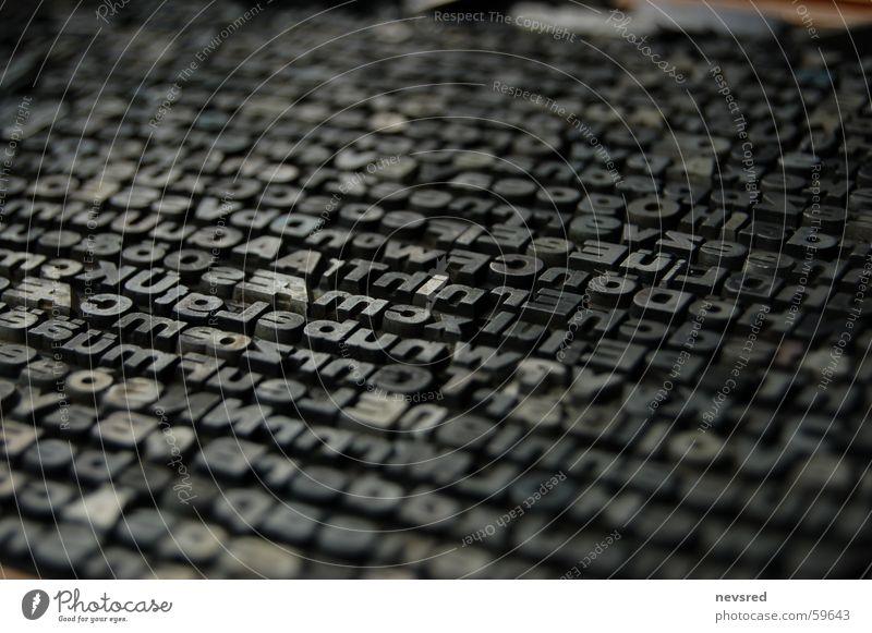 Bleiletter Buchstaben Typographie Blei