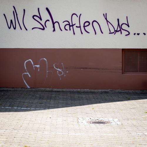 Gemeinsam sind wir stark Graffiti Wand Mauer Kraft Lifestyle Erfolg Schriftzeichen Kommunizieren Zukunft Hoffnung Leidenschaft Mut Gesellschaft (Soziologie)