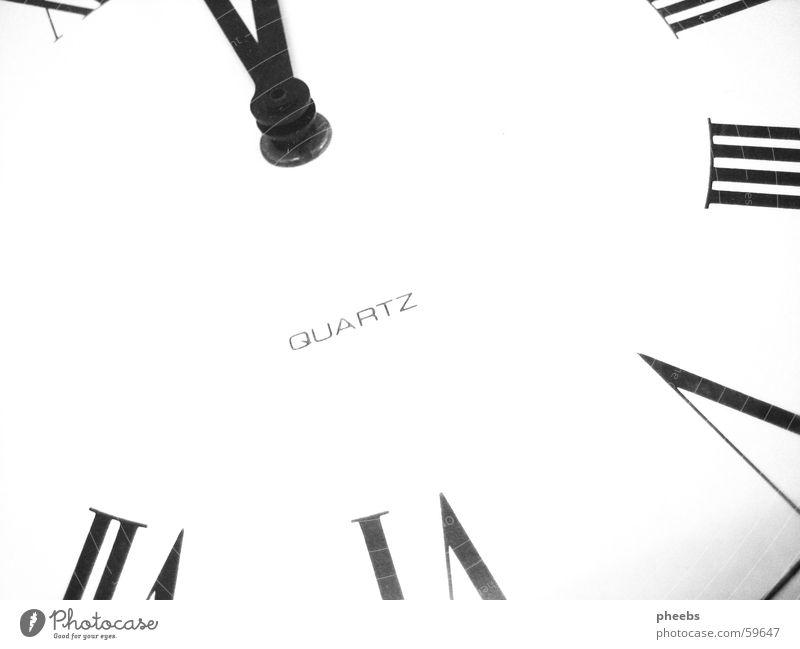 die uhr tickt.. Uhr Zeit weiß Ziffern & Zahlen Uhrenzeiger scharz quartz