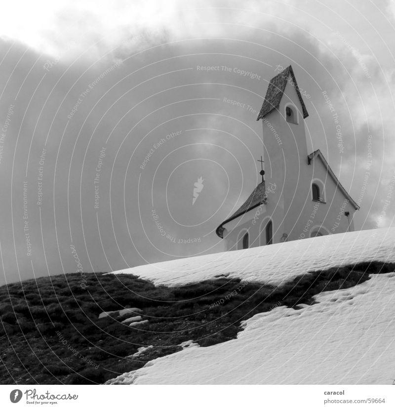 der letzte schnee Wolken Religion & Glaube church Berge u. Gebirge mountains Alpen alps Schnee snow clouds