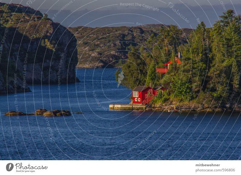 Ruhepol Ferien & Urlaub & Reisen Tourismus Ausflug Ferne Freiheit Kreuzfahrt Sommerurlaub Natur Landschaft Wasser Wetter Schönes Wetter Hügel Küste Bucht Fjord