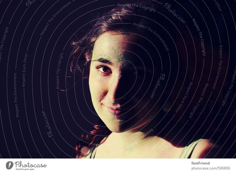 Farbperspektive II feminin Junge Frau Jugendliche Gesicht Auge Nase Mund 1 Mensch 18-30 Jahre Erwachsene Lächeln Blick Fröhlichkeit Glück mehrfarbig Freude