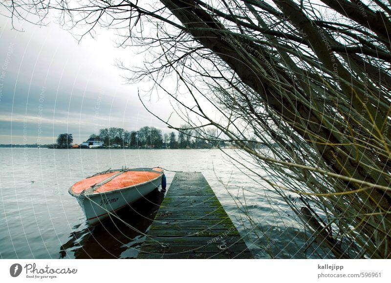 Erstes 2014 | leinen los! Natur Wasser Baum Landschaft Wolken Winter Umwelt Küste Wasserfahrzeug Freizeit & Hobby Seil Zukunft Brücke Fluss Hafen Ziel