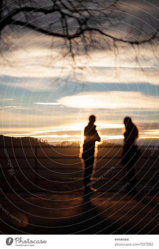 softie sunset Lifestyle Ferien & Urlaub & Reisen Freiheit Sommer Sonne Berge u. Gebirge Mensch Freundschaft Paar Leben 2 Landschaft Himmel Wetter Baum Park