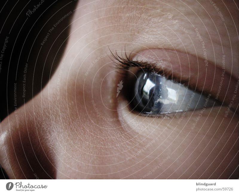 ist dies meine zukunft? Kleinkind Kind Kinderaugen glänzend Wimpern Reflexion & Spiegelung Baby besinnlich Geistesabwesend träumen Gefühle Geburt groß Neugier