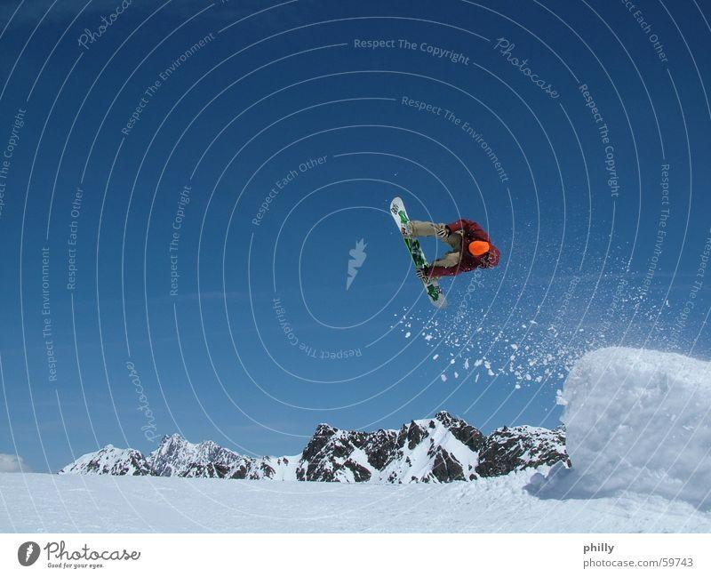 Snowboarder Blauer Himmel 2006