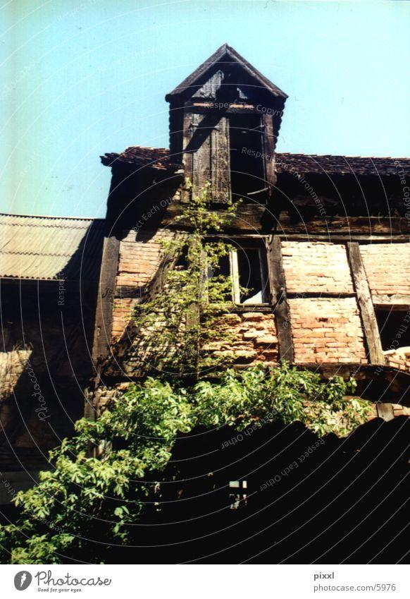 hinterhof Hinterhof Ruine Architektur altes haus fachwerkbau