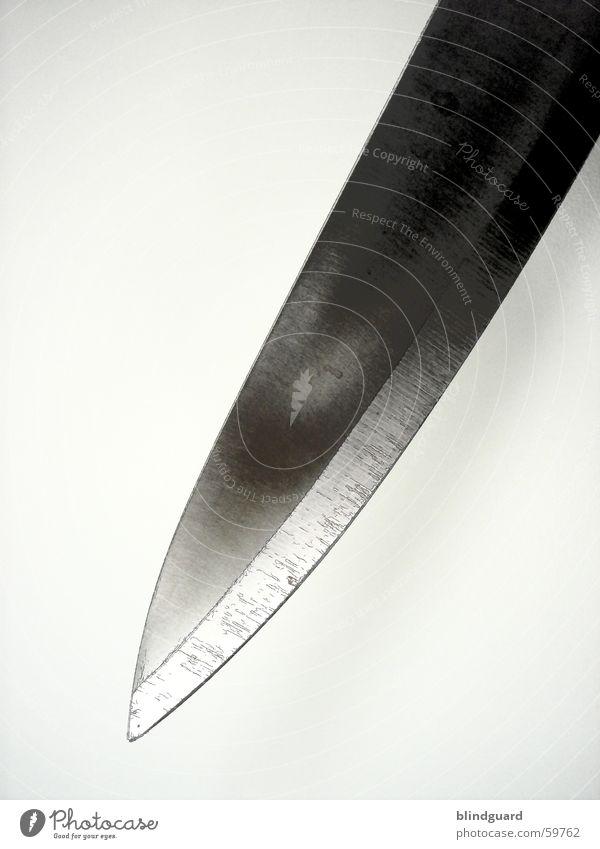 Psycho 1 dunkel Angst verrückt Küche Spitze gruselig Stahl Verbote Gesetze und Verordnungen Panik Haushalt Messer Seele geschnitten Waffe Mord