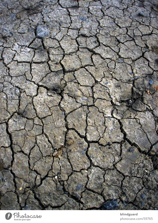 Dry And Dirty Sommer Sand Feld dreckig Erde trist Wüste trocken gebrochen Dürre porös