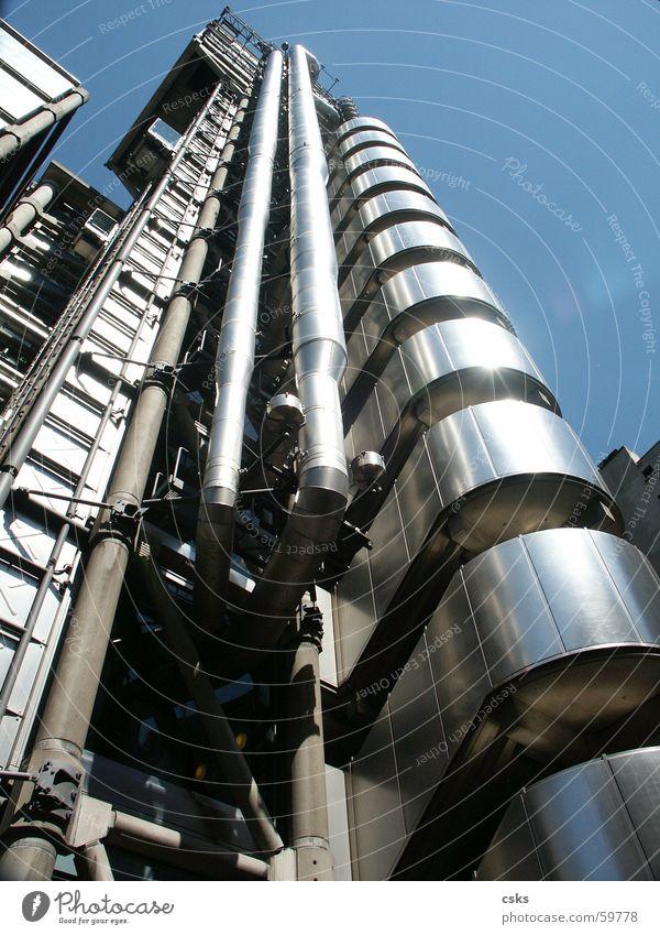 Metal Building Himmel Gebäude modern Röhren London England London Underground High-Tech
