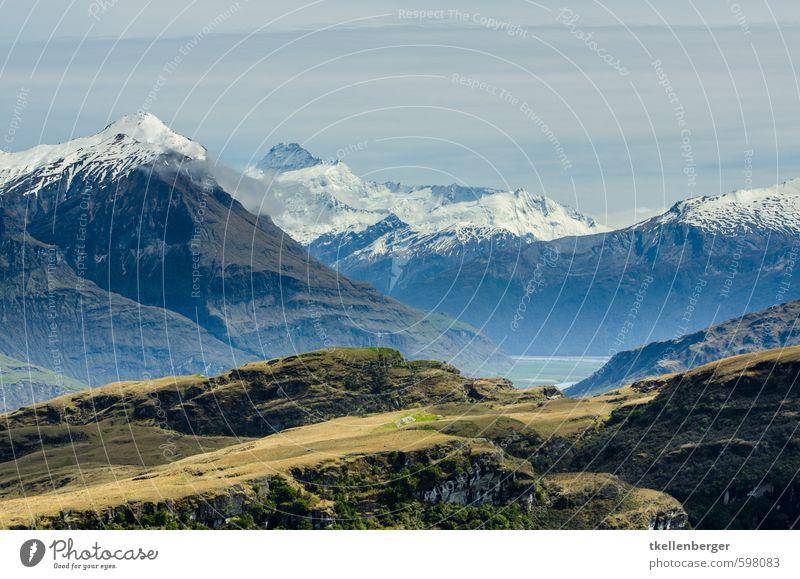 Rocky Mountain Neuseeland III Natur Landschaft Wolken Berge u. Gebirge Felsen Tourismus wandern Schneebedeckte Gipfel Klettern Bergsteigen Gletscher steinig