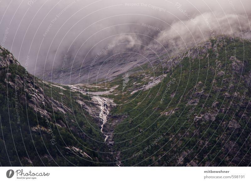 Nebel im Berg Natur Landschaft Sommer Klima Wetter Hügel Felsen Berge u. Gebirge Ferien & Urlaub & Reisen dunkel Unendlichkeit Gelassenheit ruhig Leben