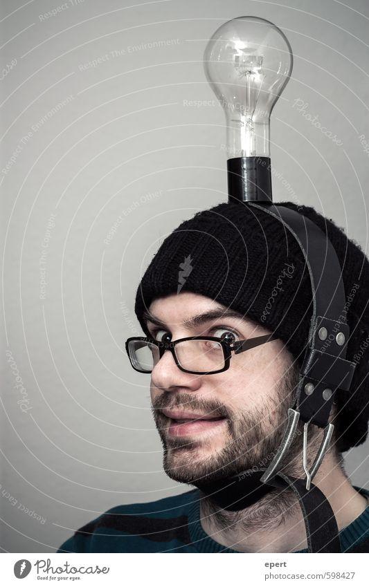 100 mal ne Idee gehabt Freizeit & Hobby Basteln Erfindung Erfinder Glühbirne Mensch Mann Erwachsene Kunst Künstler Gürtel Mütze Kopftuch Denken außergewöhnlich