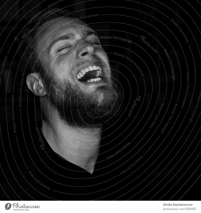 lol 1 Mensch Jugendliche Mann Freude 18-30 Jahre Junger Mann Erwachsene Leben Gefühle lustig lachen Glück Kopf Stimmung maskulin frei