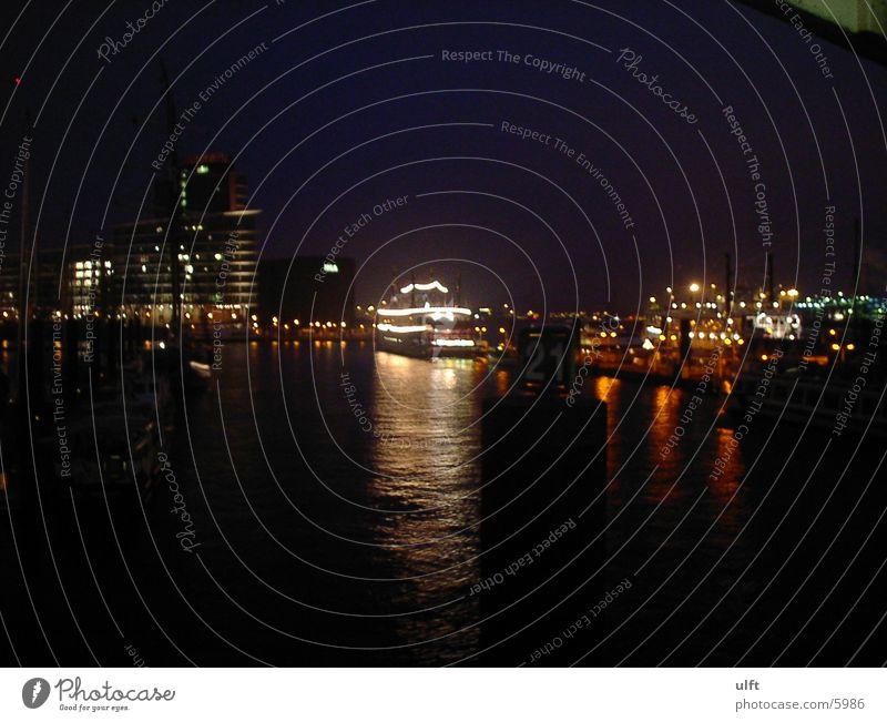 Hafen Hamburg Nacht Europa Elbe
